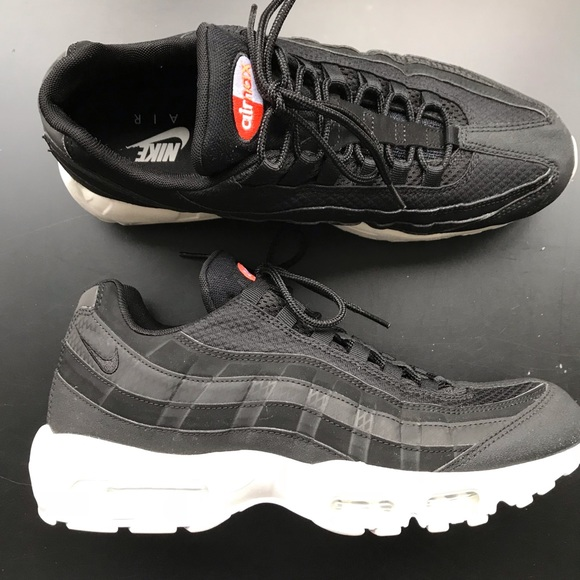 Air Max 95 Premium Se Black Black white team Orange